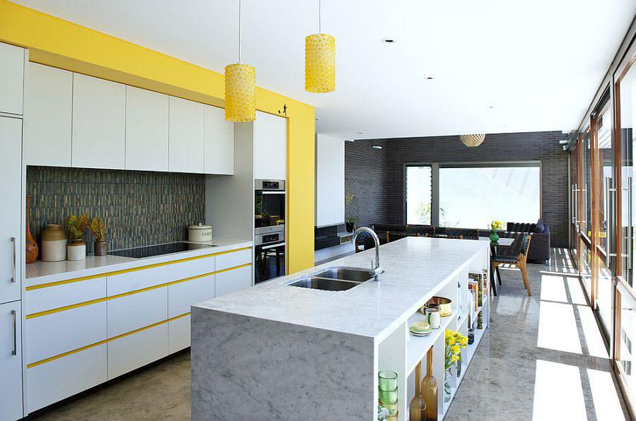 Modello di cucina con isola a giorno n.18