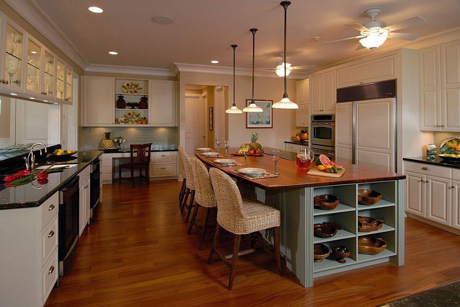 Modello di cucina con isola a giorno n.22