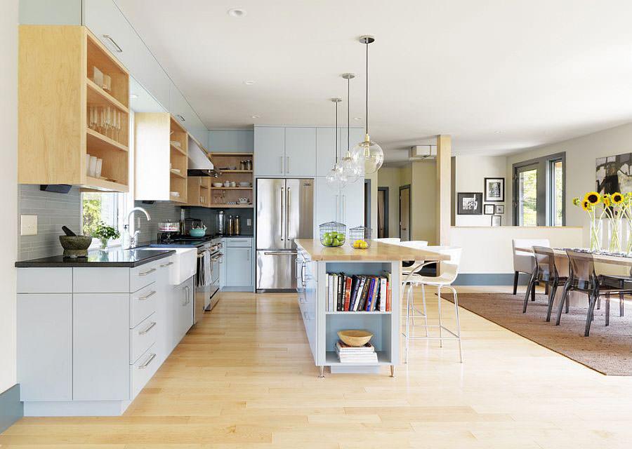 Modello di cucina con isola a giorno n.25
