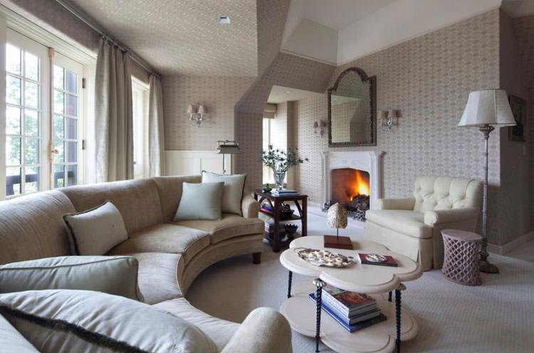 31 esempi di arredamento con divani rotondi for Divano rotondo