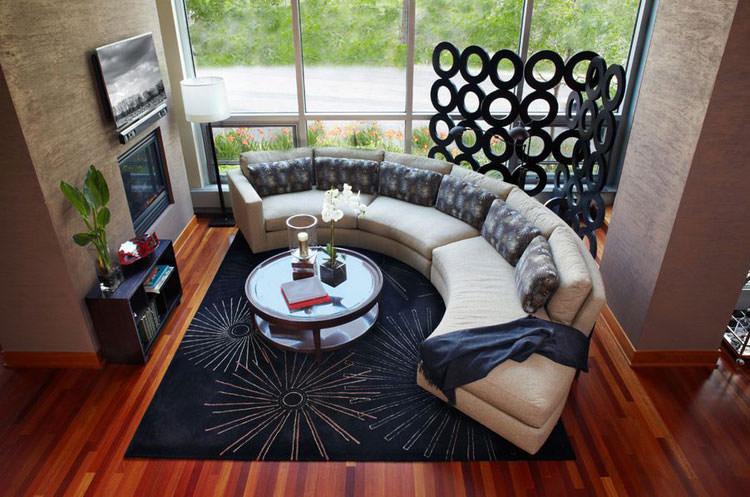 Salotto arredato con divano rotondo n.29