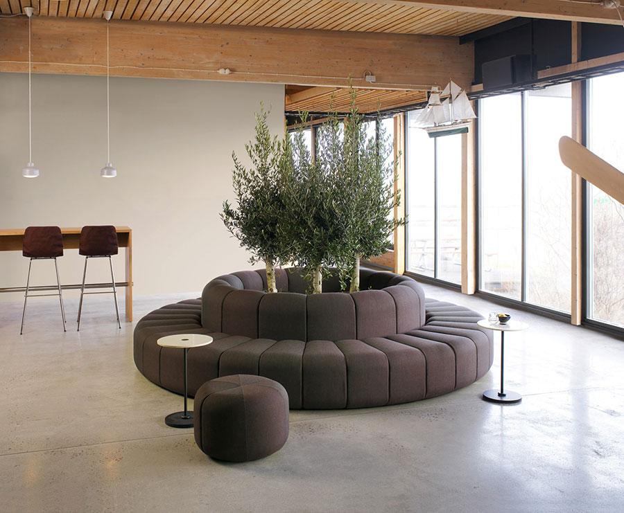 Modello di divano rotondo n.02