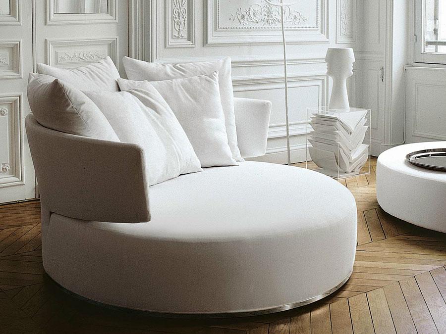 Modello di divano rotondo n.04