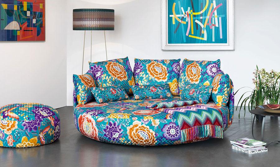 Modello di divano rotondo n.05