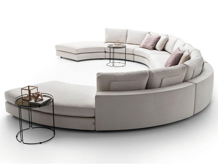 Modello di divano rotondo n.07