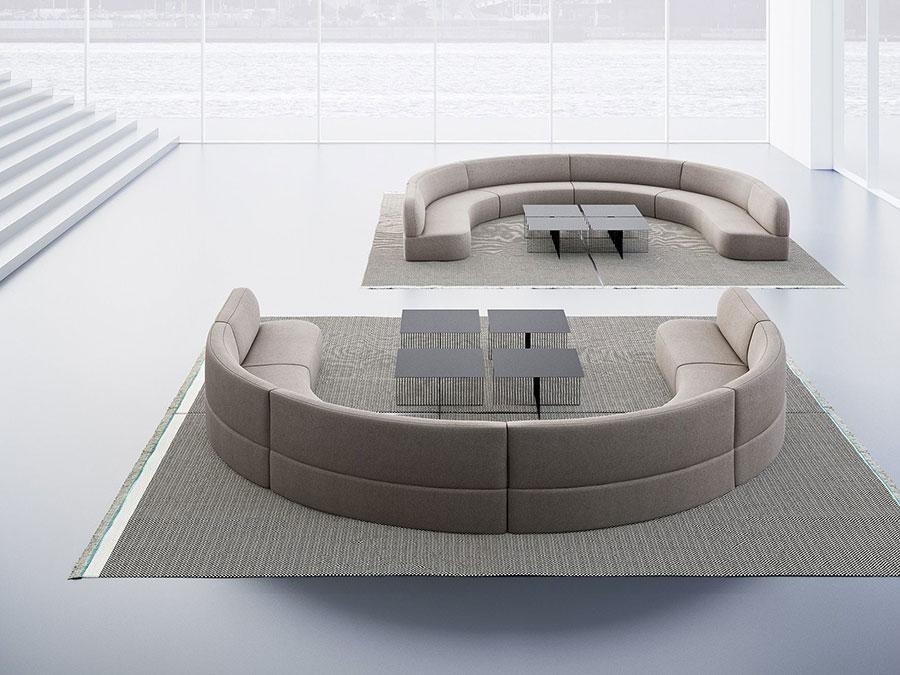 Modello di divano rotondo n.09