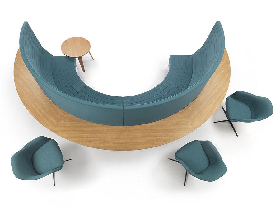Modello di divano rotondo n.12