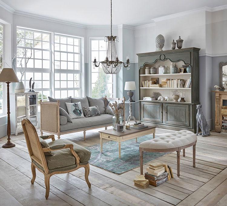 Modello di divano per soggiorno shabby n.01