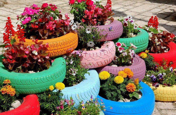 Come creare una fioriera con pneumatici di riciclo