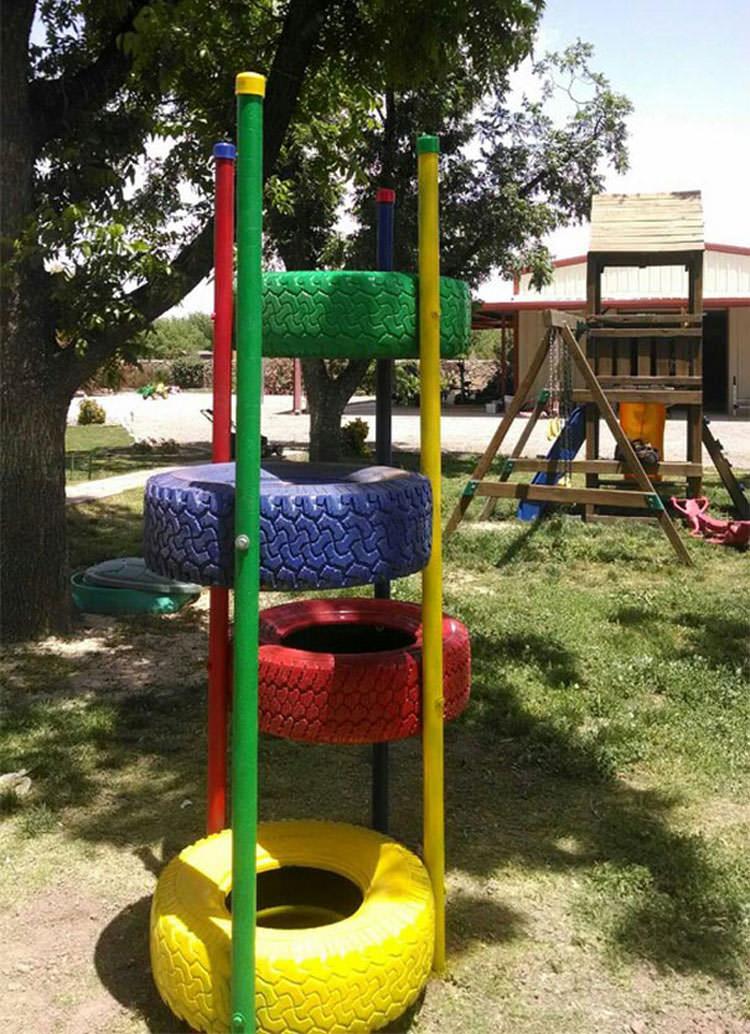 Come creare dei giochi per bambini con vecchi pneumatici