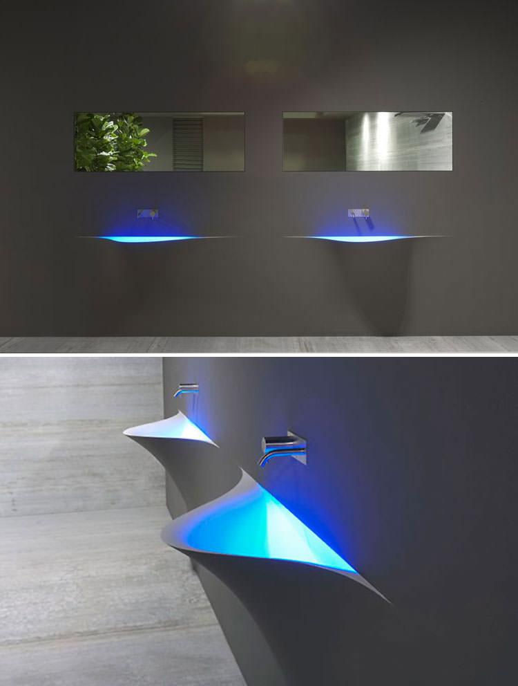 Lavandino futuristico per bagno moderno n.03
