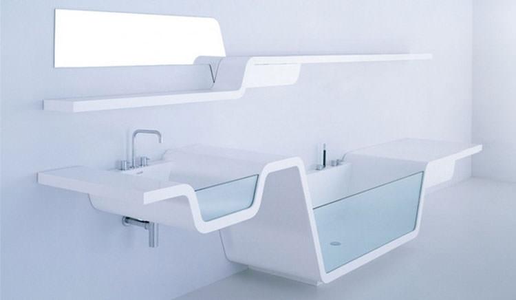 Lavandino futuristico per bagno moderno n.04