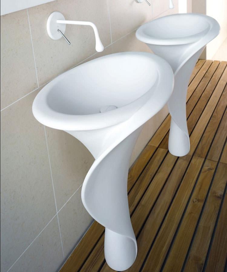 Lavandino futuristico per bagno moderno n.06