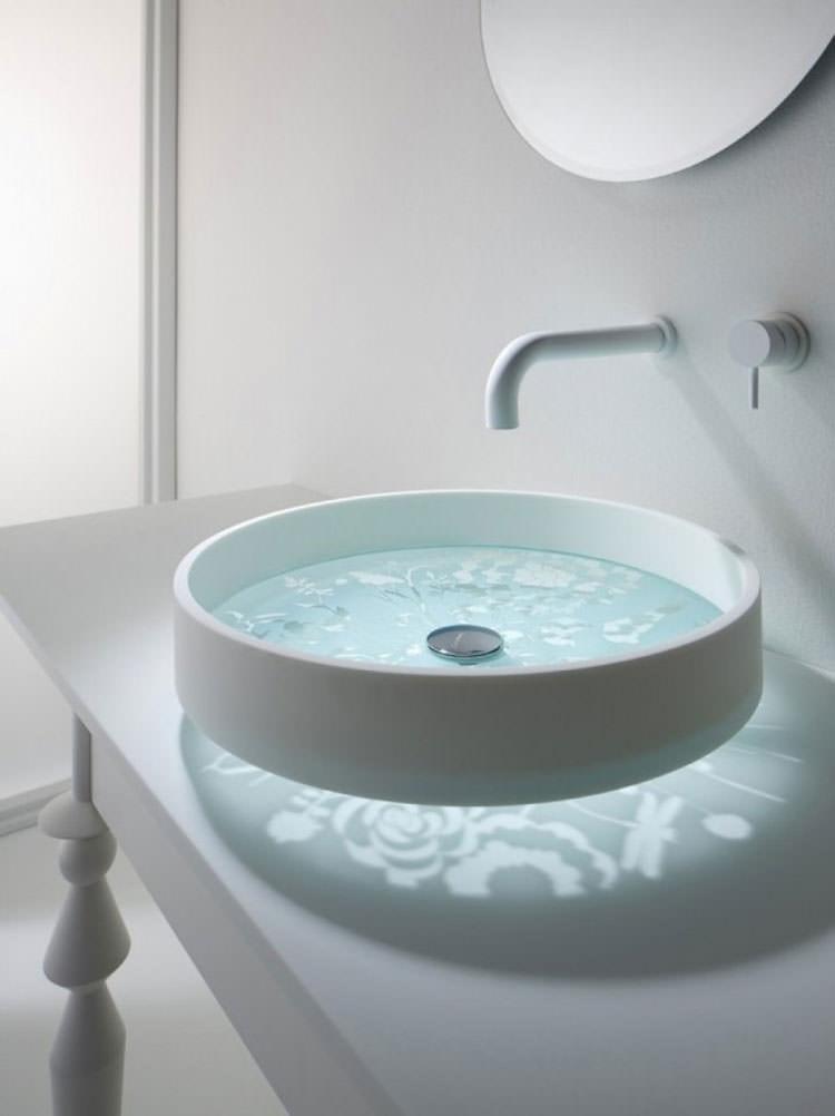 Lavandino futuristico per bagno moderno n.10