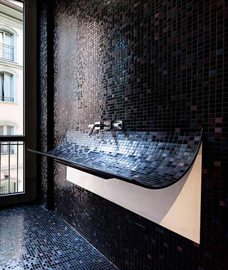 Lavandino futuristico per bagno moderno n.11