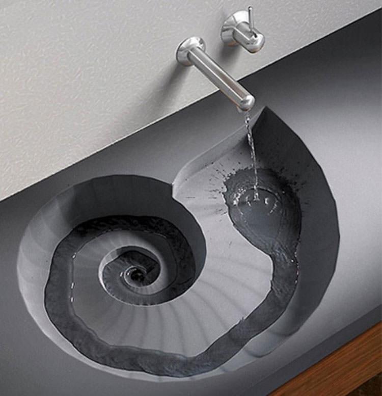 Lavandino futuristico per bagno moderno n.12