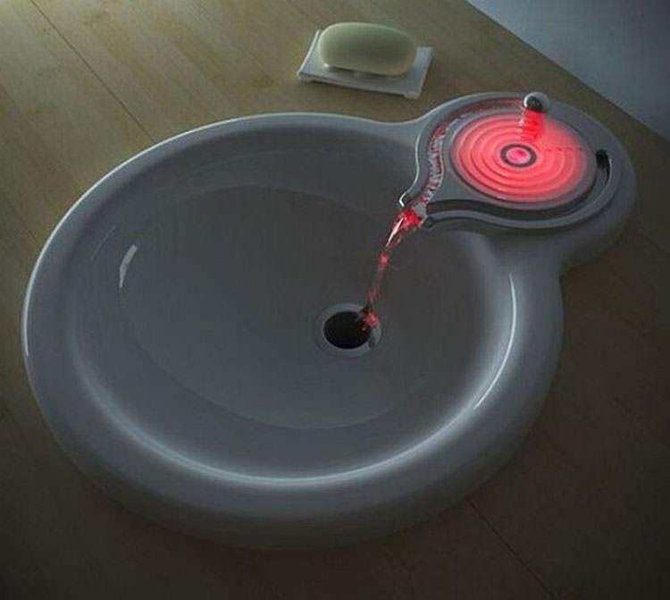 Lavandino futuristico per bagno moderno n.15