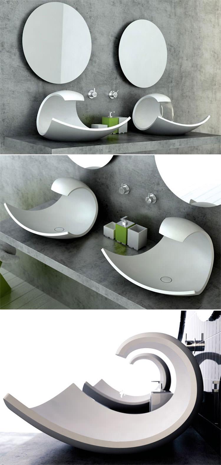 Lavandino futuristico per bagno moderno n.17