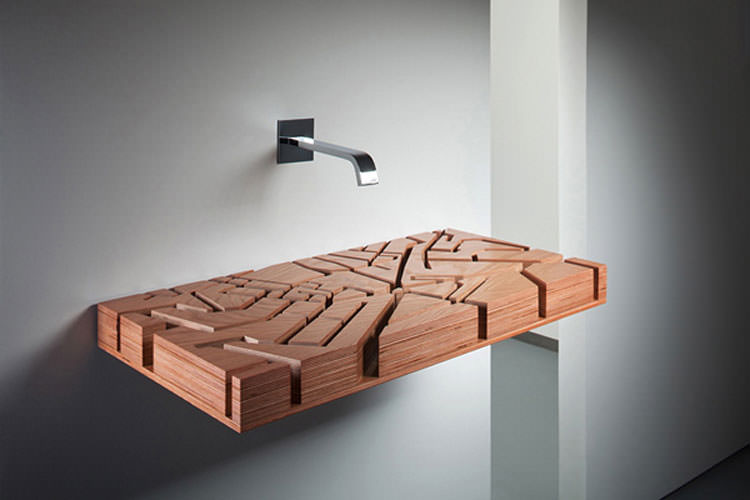 Lavandino futuristico per bagno moderno n.19