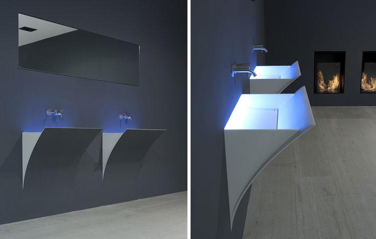 Lavandino futuristico per bagno moderno n.20