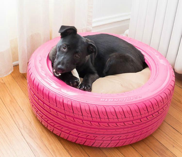 Come creare un lettino per cani con i pneumatici