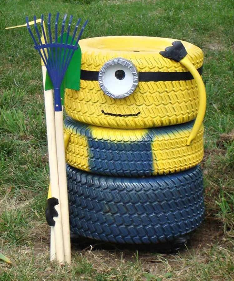 Come creare un Minions con i pneumatici