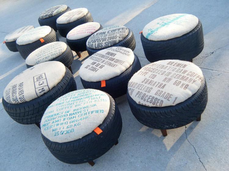 Come creare dei pouf con vecchi pneumatici