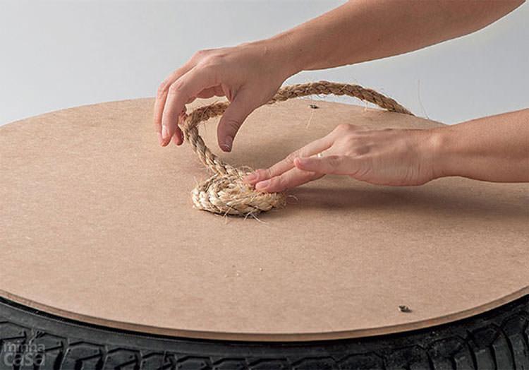 Applicazione della corda decorativa