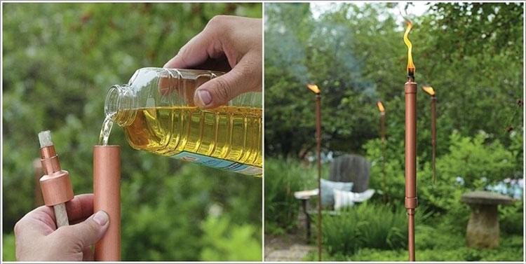15 idee creative per riciclare tubi idraulici e arredare for Oggetti per abbellire il giardino