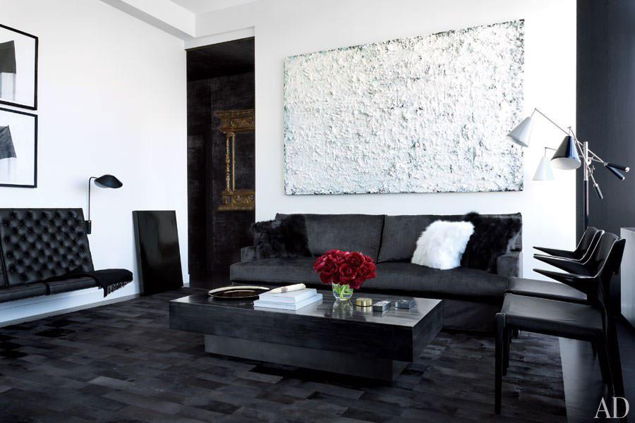 Idea per arredare il soggiorno in bianco e nero n.02