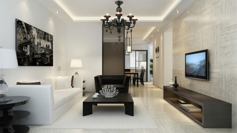 Idea per arredare il soggiorno in bianco e nero n.04