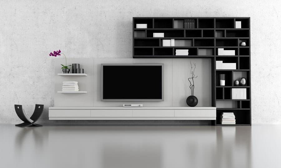 Idea per arredare il soggiorno in bianco e nero n.06