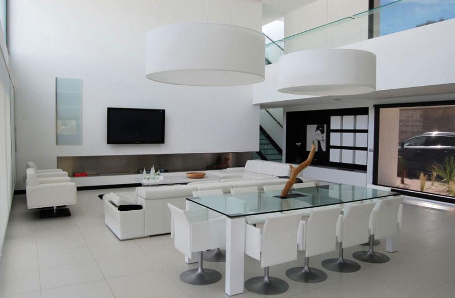 Idea per arredare il soggiorno in bianco e nero n.07