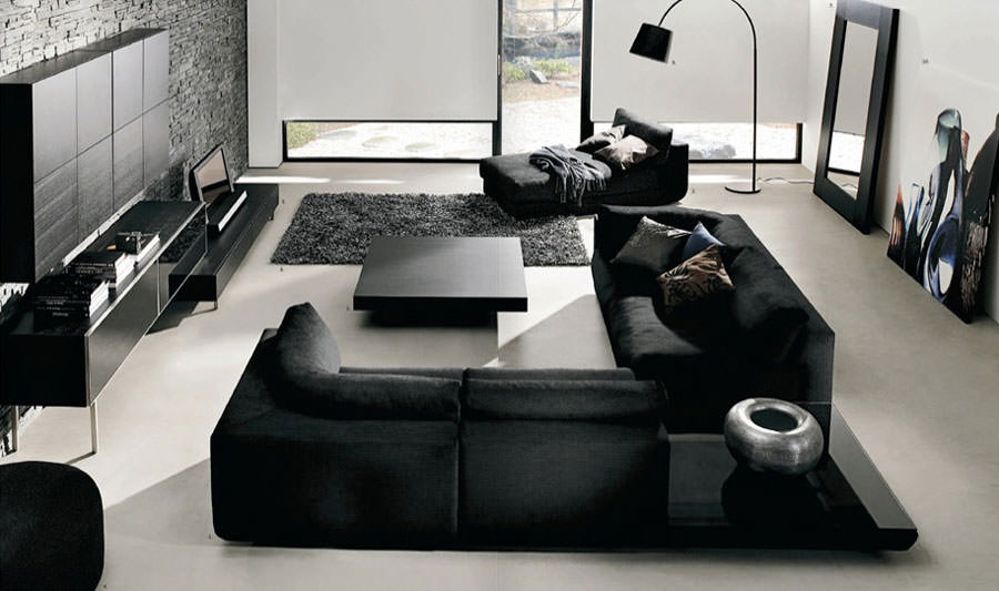 Idea per arredare il soggiorno in bianco e nero n.14