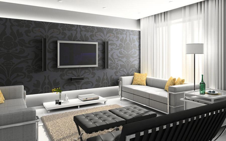 Idea per arredare il soggiorno in bianco e nero n.19