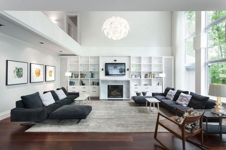 Idea per arredare il soggiorno in bianco e nero n.20