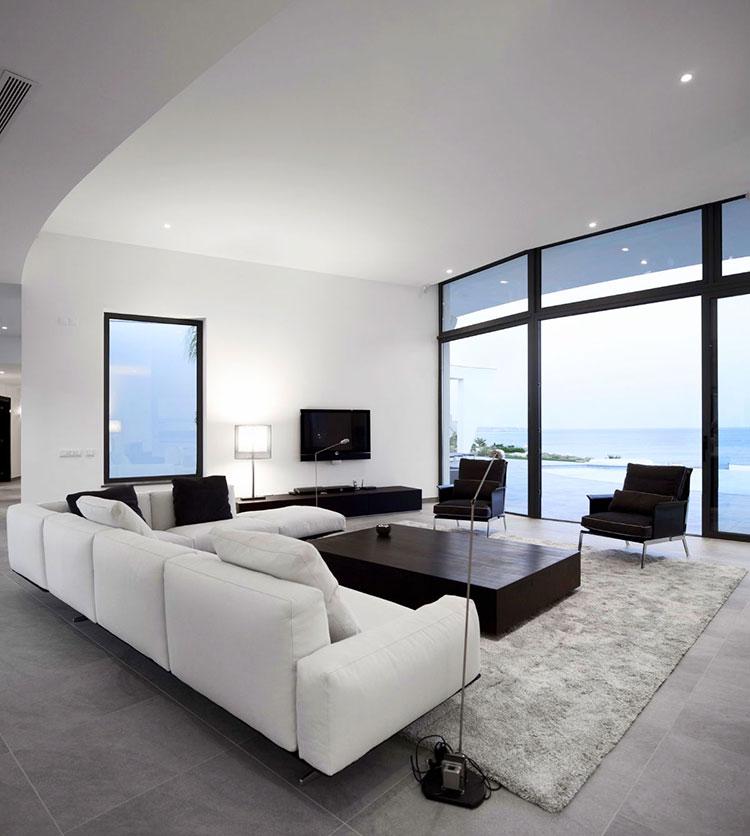 Idea per arredare il soggiorno in bianco e nero n.25