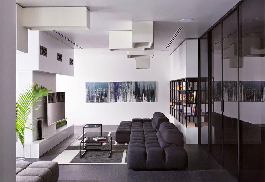 Idea per arredare il soggiorno in bianco e nero n.29