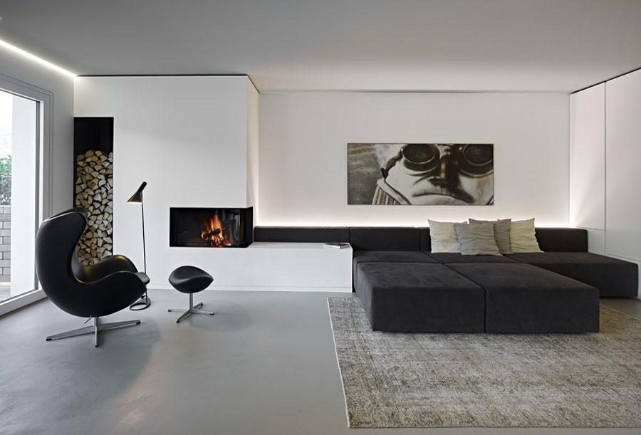 Idea per arredare il soggiorno in bianco e nero n.39