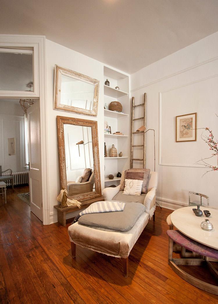 Idee per arredare il soggiorno in stile shabby chic n.21