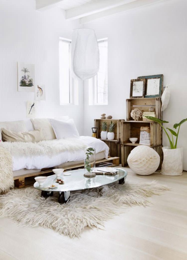 Idee per arredare il soggiorno in stile shabby chic n.23
