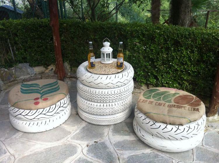 Come creare un set da giardino con i pneumatici