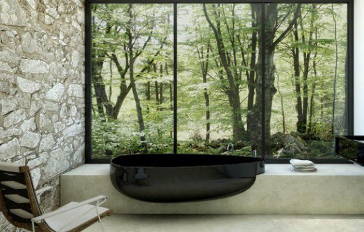Modello di vasca da bagno nera n.03
