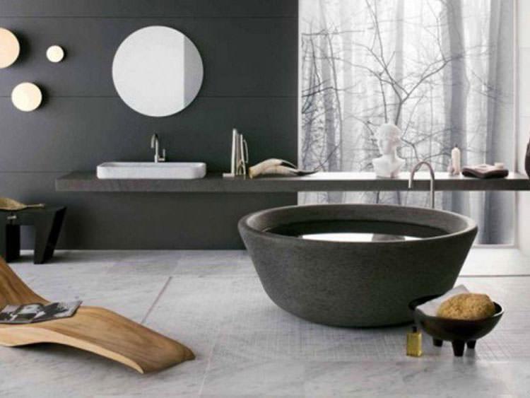 Modello di vasca da bagno nera n.04