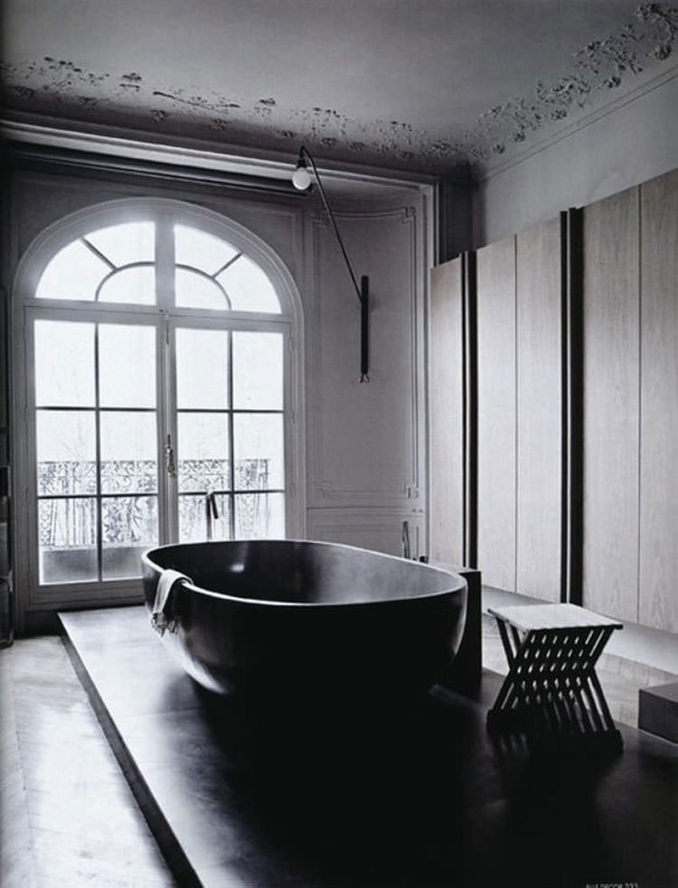 Modello di vasca da bagno nera n.06