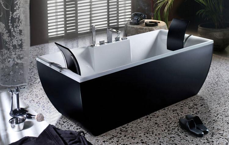 15 sofisticate vasche da bagno nere - Vasca da bagno libera installazione ...