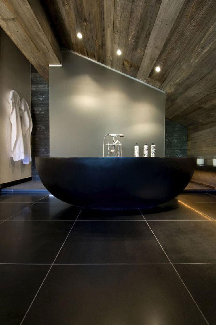 Modello di vasca da bagno nera n.08