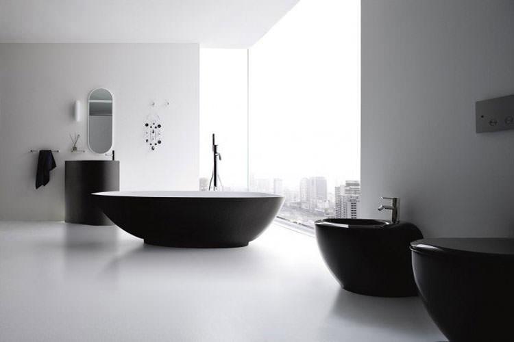 Modello di vasca da bagno nera n.09