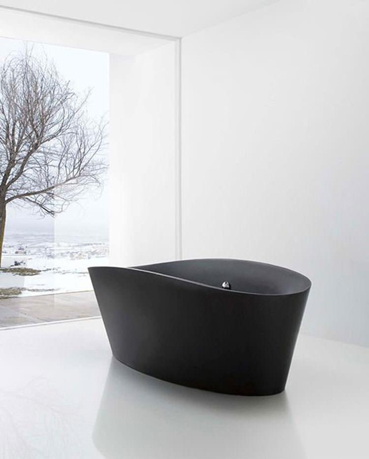 15 sofisticate vasche da bagno nere - Vasca da bagno nera ...