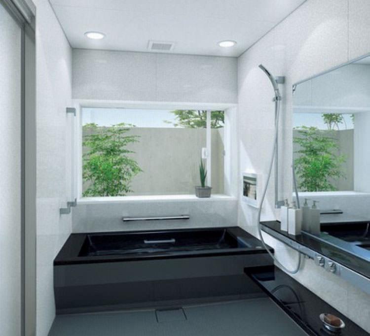 Modello di vasca da bagno nera n.11